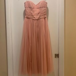 Women's Strapless Tulle Dress in Pink
